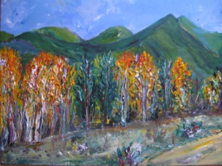 Autumn in Twin Lake, an original painting by Brigitte